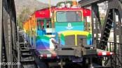 Bahn auf der Brücke am Kwai