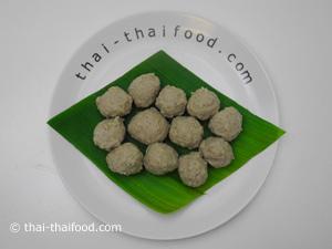 Fertige Fleischbällchen aus Thailand