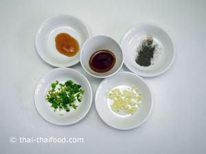 Zutaten für Wan Tan