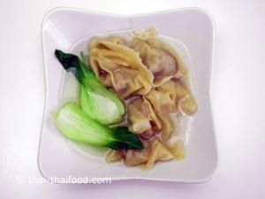 Wan Tan Suppe vorbereitet