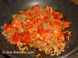 Schweinehackcurry mit Tomatenstücken