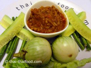 Thailändische Chili Paste mit Gemüse