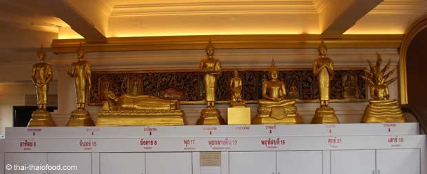 Für jeden Tag eine Buddha Figur Montag Dienstag Mittwoch Donnerstag Freitag Samstag Sonntag