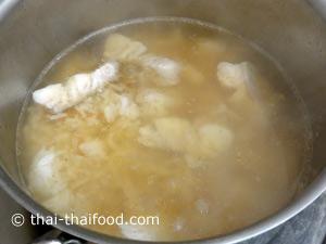 Fisch Eintopf mit Reis kochen