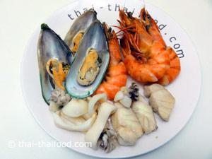 Meeresfrüchte für Thai Salat