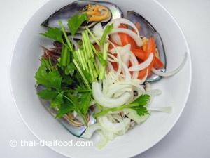 Meeresfrüchte als Salat