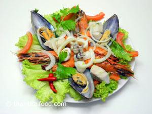 Meeresfrüchtesalat aus Thailand