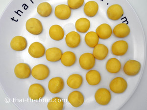 Kartoffelbällchen unfrittiert