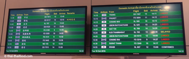 Gepäck-Belt Anzeige Don Mueang Flughafen