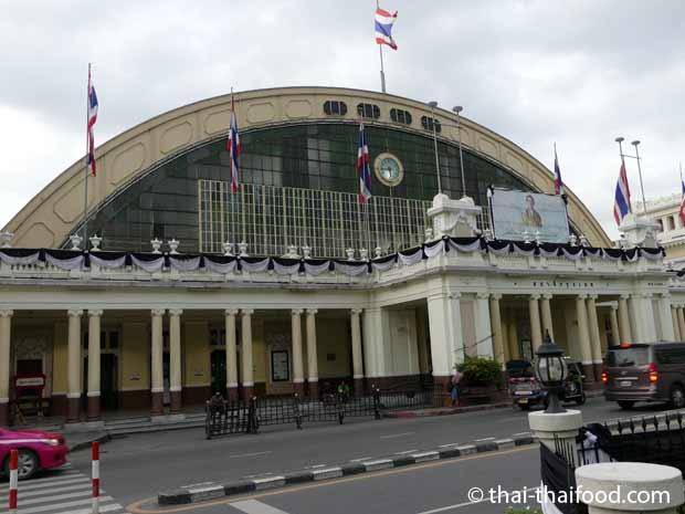 Bahnhofsgebäude Hua Lamphong Hauptbahnhof Bangkok