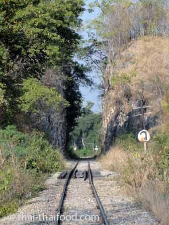 Bahnlinie Brücke am Kwai