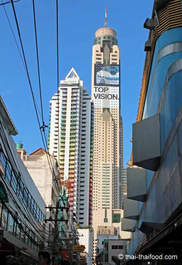 Baiyoke Tower 2 zusammen mit dem Bayoke Tower 1