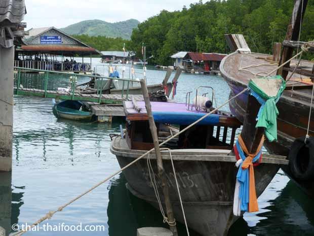 Fischerboote am Bang Rong Pier