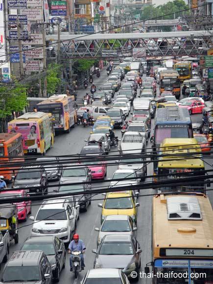 Täglicher Stau in Bangkok