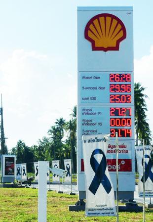 Benzinpreise in Thailand Stand Oktober 2017