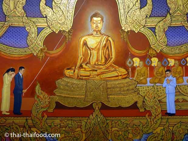 Kunstwerk aus dem Museum des Wat Traimit