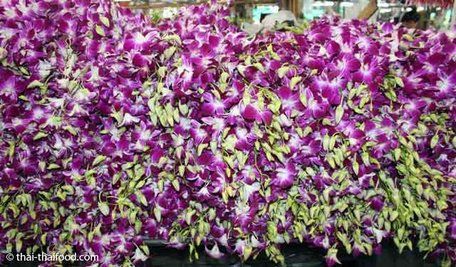 Blumen auf dem Blumenmarkt Bangkok