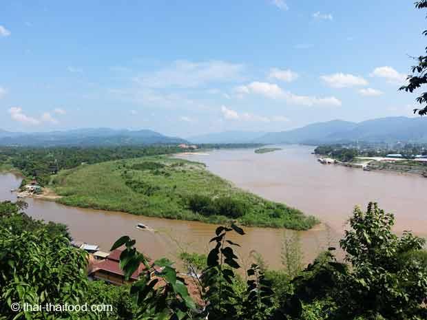 Das goldene Dreieck die Grenzregion von Thailand Laos und myanmar