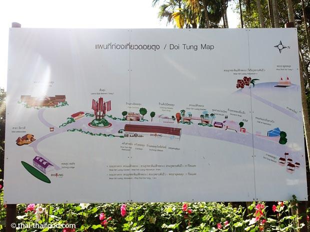 Doi Tung Karte