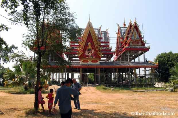 Ein Dorf Tempel wird neu gebaut