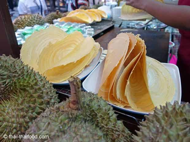 Thailändischer Durian Pfannkuchen