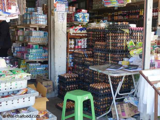 Hühnereier Verkauf in Thai Kleinstadt