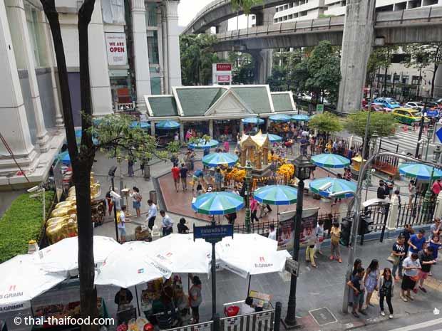 Lage des Erawan Schreins in Bangkok