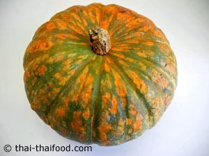 oranger thailändischer Kürbis