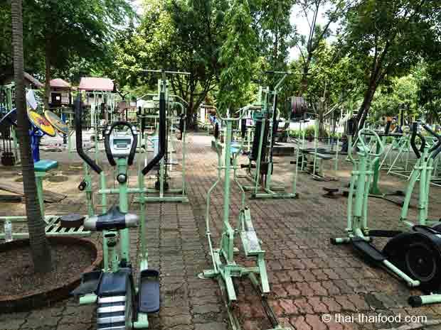 Fitness Areal im Rama IX Park