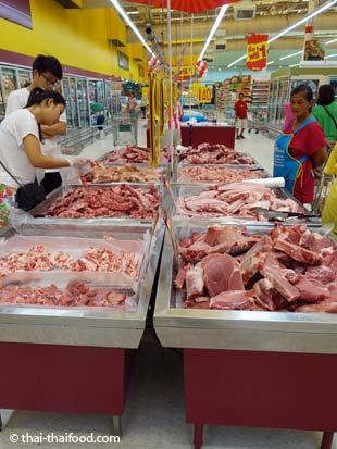 Tesco Supermarkt Fleisch Selbstbedienung