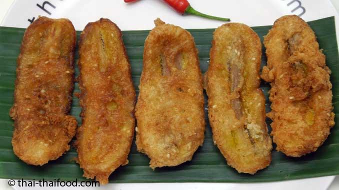 Frittierte Thaibananen