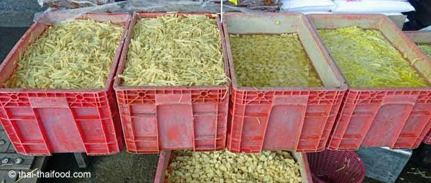 Geschnittene Bambussprossen für den Verkauf
