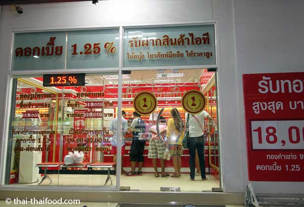 Gold Shop in Korat in Thailand