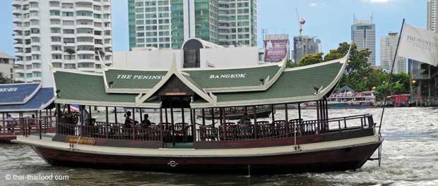 Chao Phraya Reisbarke als Hotel Shuttle Boot