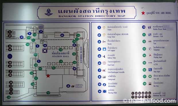 Hua Lamphong Karte zur Orientierung