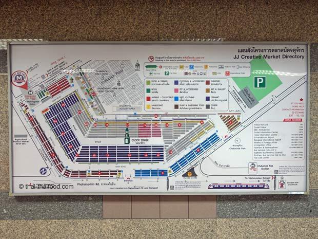 Karte vom Chatuchak Markt