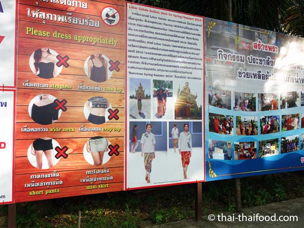 Kleidervorschriften im Thai Tempel