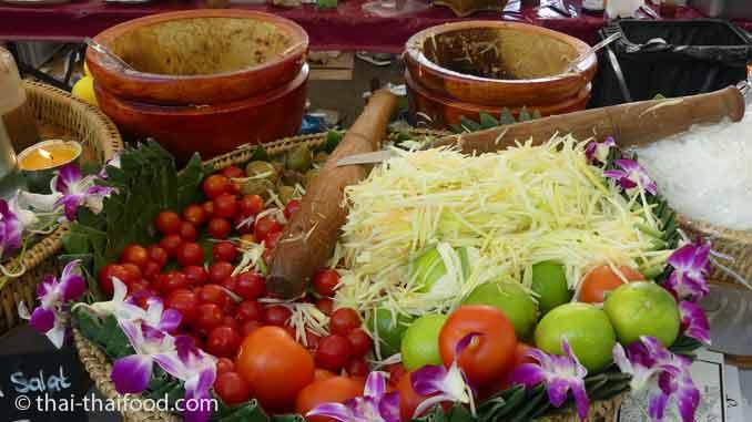 Papayasalat auf dem Thai Food Festival Böblingen