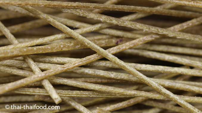 getrocknete Spaghetti aus unreifen Sojabohnen