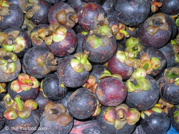 Mangostane Früchte aus Thailand