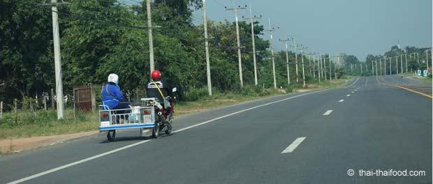 Thailand Motorad mit Seitenwagen