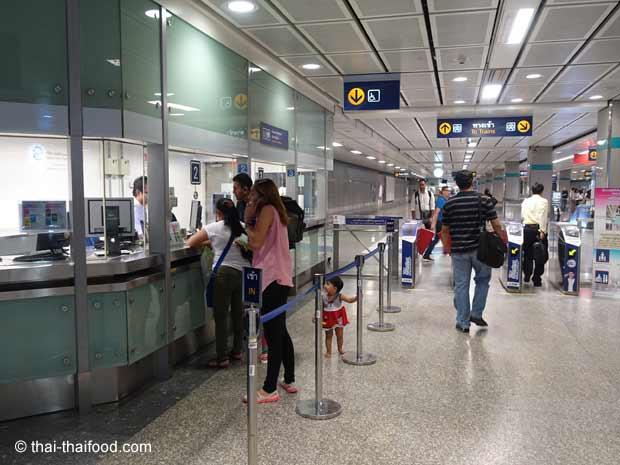 MRT Informations- und Ticketschalter Bangkok