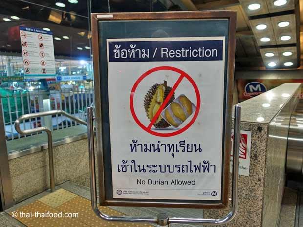 Mitnehmen einer Durian verboten