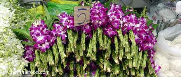 Thai Orchideen Strauß für 5 Baht