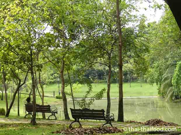 Ruhe und Entspannung im Queen Sirikit Park Bangkok