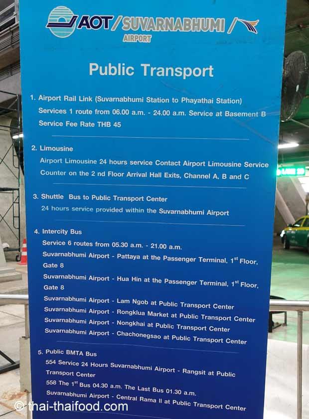 Öffentliche Verkehrsmittel Flughafen Bangkok