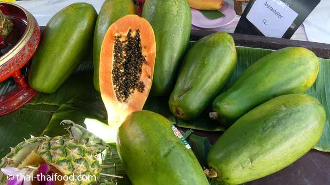 Reife Papaya