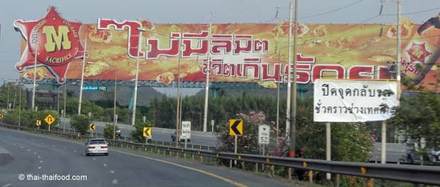 Werbung an den Straßen von Thailand
