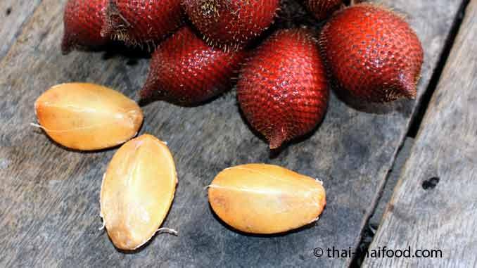 Fruchtfleisch der Salak Frucht
