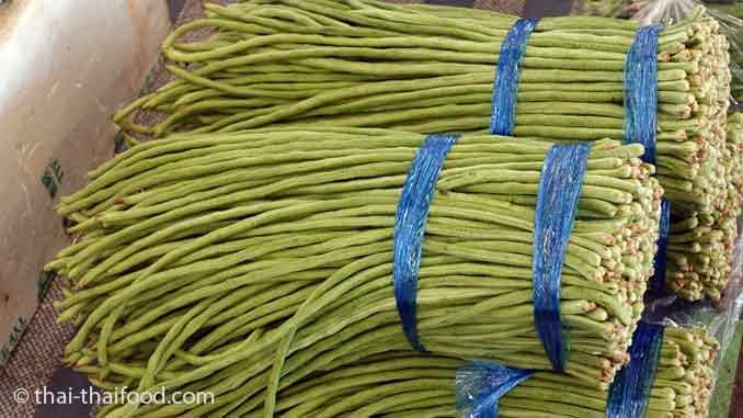 Asiatisches Gemüse Spargelbohnen